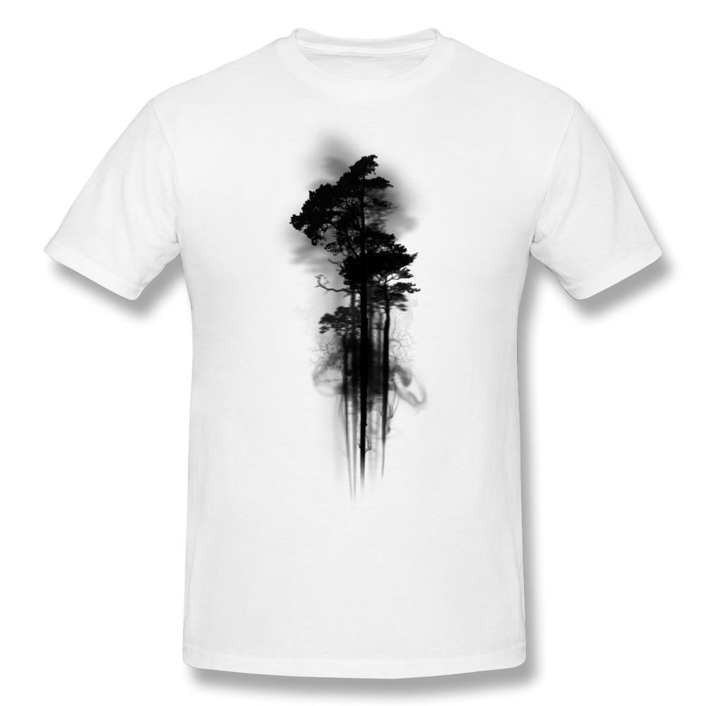 Unique design gildan t shirt mens enchanted forest print for Unusual shirts for men