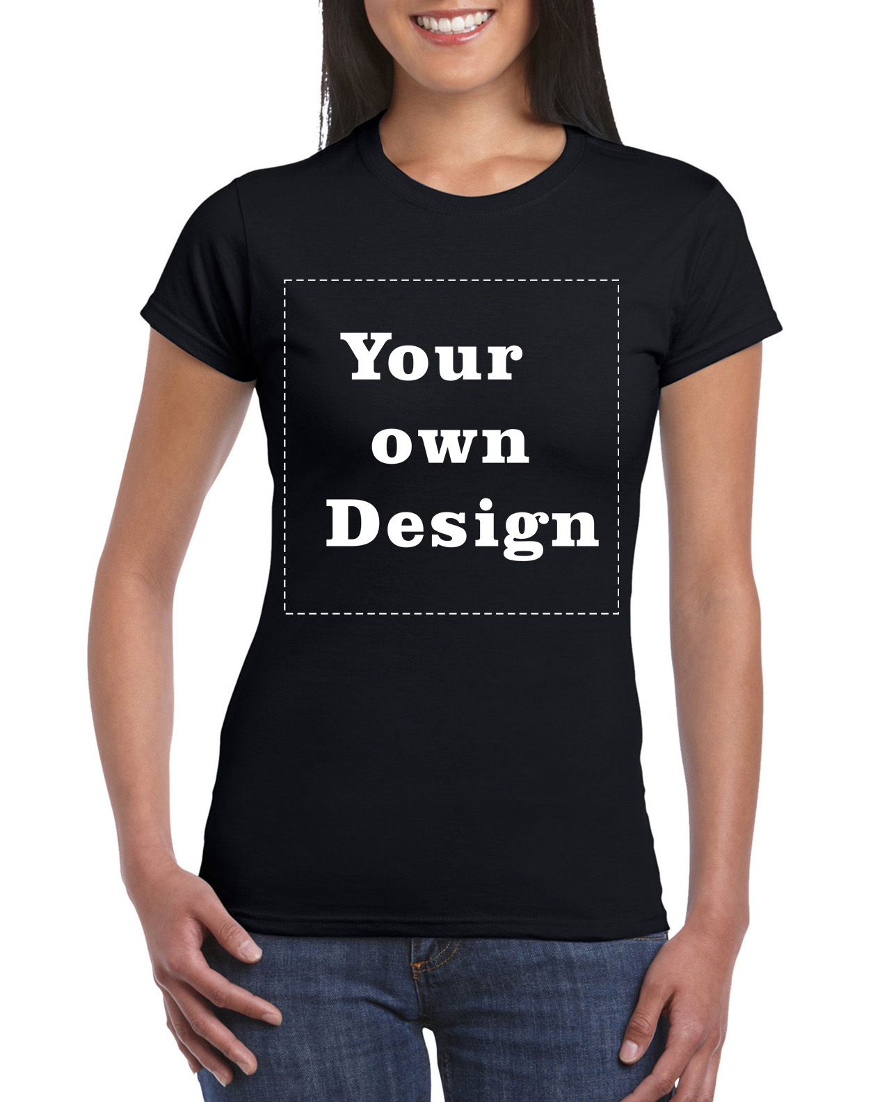 Design your own t-shirt female - 2016 Women Black Your Own Design T Shirt Novelty Tops Lady Custom Printed Short Sleeve Tees
