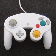 White Wired Dual Shock Gamepad Game Controller  For Nintendo GameCube GC NGC Wii Console