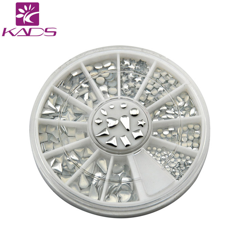 KADS Nail metallic Flakes nail art decorations 3d nails accessories design bling metal shell flake metallic mixed Silver(China (Mainland))