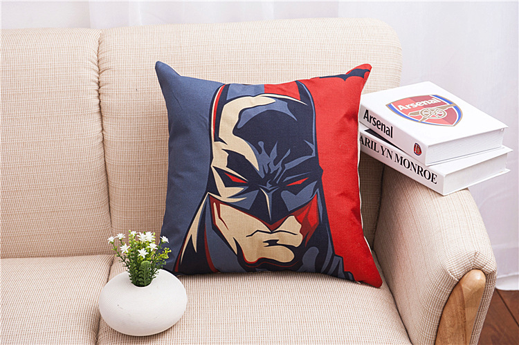 Justice League Throw Pillows : Batman Cushion Covers - free shipping worldwide