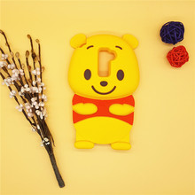 3D Cartoon Winnie Pooh Bear Case Soft Silicone Rubber Back Cover Shell LG K7 Q7 LTE X210 MS330 LS675 M1 Tribute 5 K 7 - International Fashion Goods Stores store