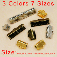 FREE SHIPPING metal DIY 6mm-30mm Jewelry Findings Accessories Vintage Textured End Caps Crimp Beads Clasp fit jewelry making(China (Mainland))