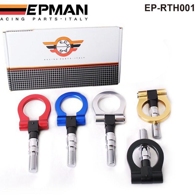 EPMAN - Billet Aluminum Front Rear JDM Japanese Car Auto Trailer Tow Hook Kit For Honda Toyota EP-RTH001