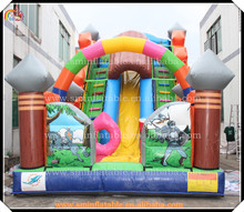 Cheap large inflatable slide,funny cartoon slip n slide,toddler slides and climbers(China (Mainland))