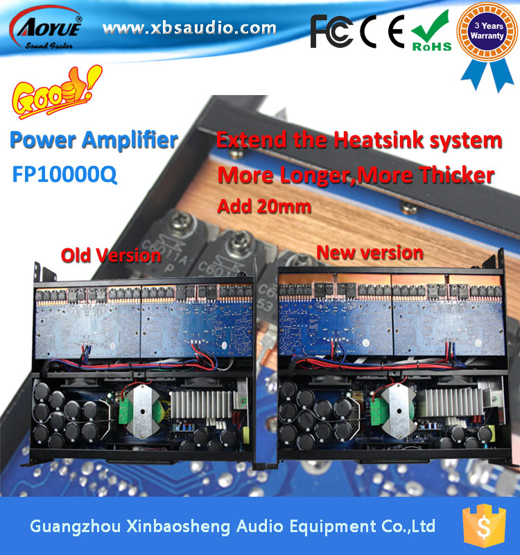 4CH FP10000q power amplifier 1000w with factory spare parts supply(China (Mainland))