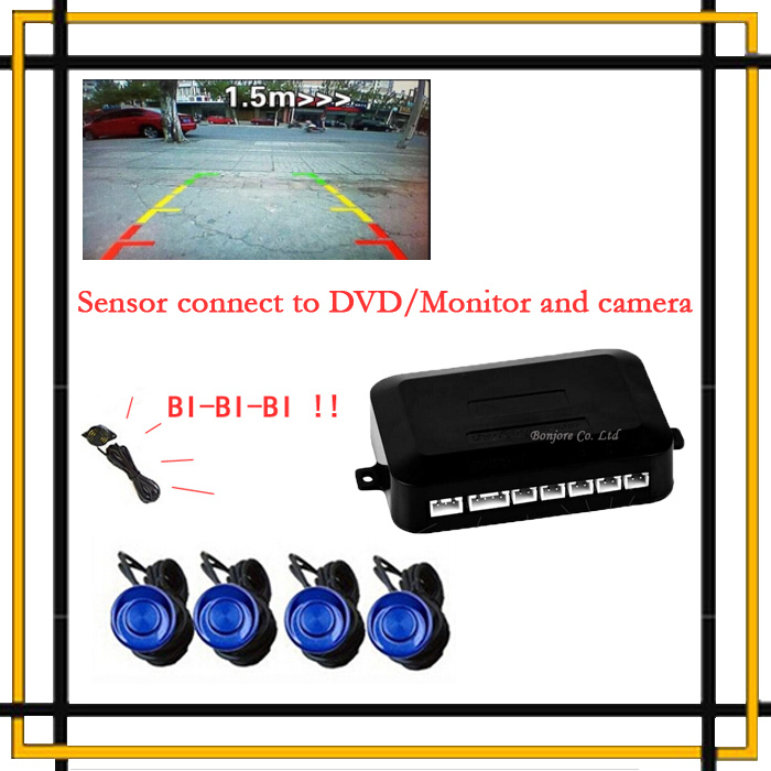 Dual Core CPU Car Parking Assistance Sensor Reversing Radar Video all-in-one System Connect Car DVD Monitor And Rearview Camera(China (Mainland))