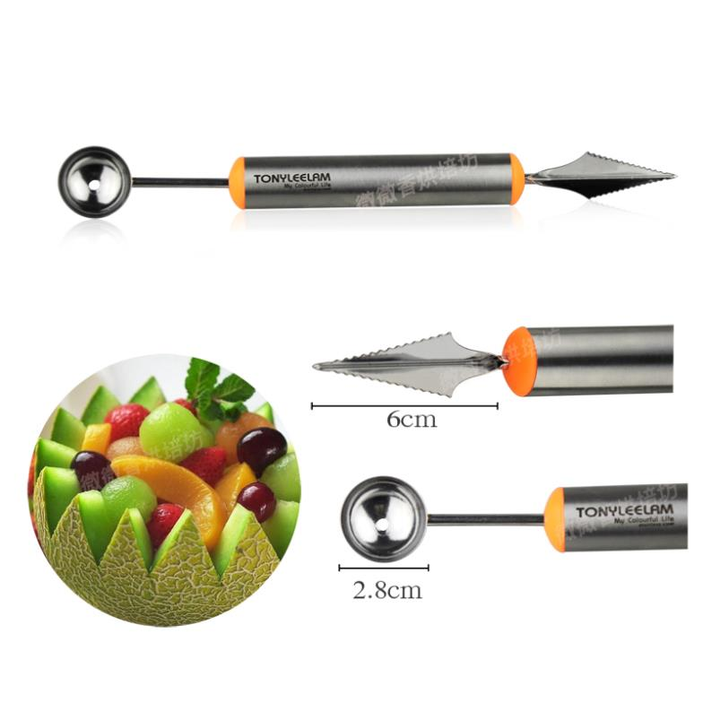 Multifunctional fruit vegetable tools carving cutter melon scoops ballers stainless steel kitchen gadget accessories(China (Mainland))