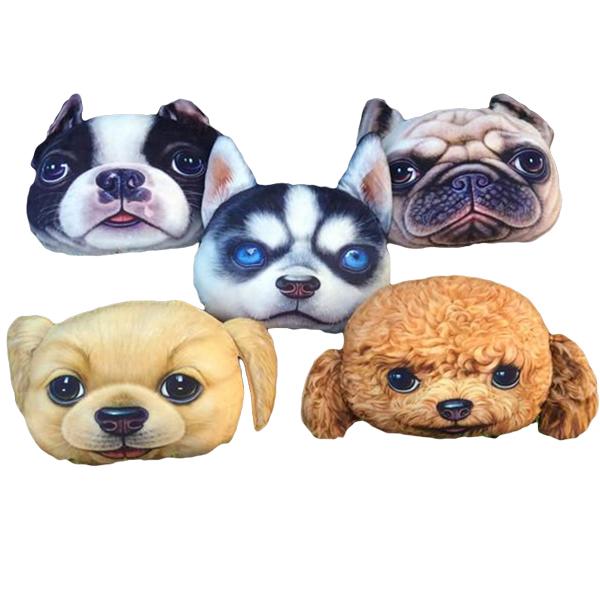 Wholesale High Quality Throw Pillow Cover, Lovely Pet Dog Creative Design Car Seat Cushion Cartoon Animal Pillowcase(China (Mainland))