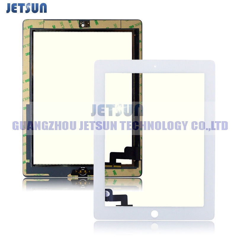 High Quality Touch Panel For iPad 2 Digitizer ipad2 Touch Screen With Home Button White Free Shipping + Sticker(China (Mainland))