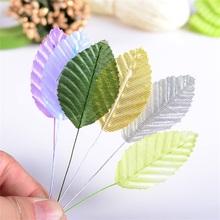 30pcs 5cm Nylon Silk Leaf Green Leaves Artificial Flower For Wedding Decoration DIY Wreath Gift Scrapbooking Craft Fake Flower(China (Mainland))