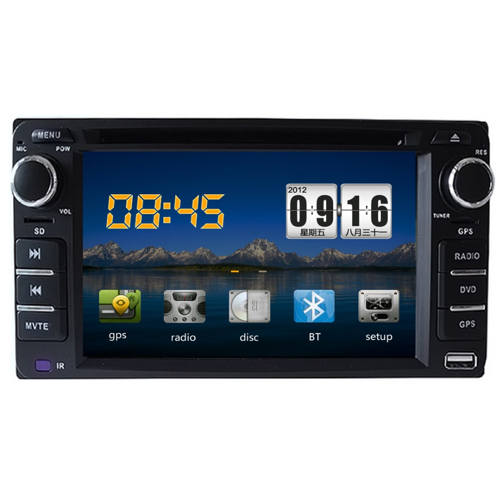 2Din Car DVD For Toyota Universal Radio Video Player,GPS Navigation+Bluetooth+4gb TFT Card Audio touch screen CD Video Player(China (Mainland))