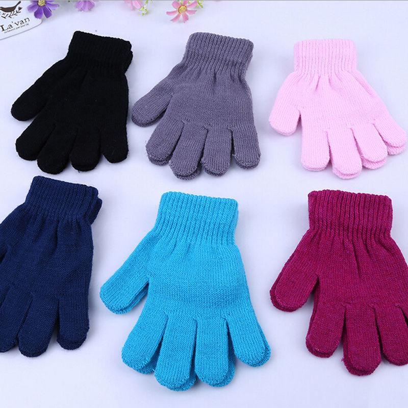 New Fashion Children Kids Magic Glove Mitten Girl Boy Kid Stretchy Winter Warm Knitted Gloves Random Color(China (Mainland))