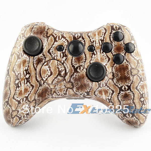 Hydro Dipped Brown Snakeskin Shell Parts for r Xbox 360 Wireless Controller + Free Shipping(China (Mainland))