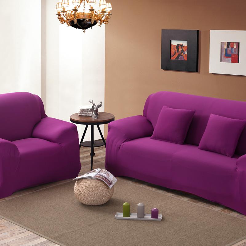 16 Colours Sofa Cover Stretch Fabric Elastic Corner Slipcover 1/2/3/4-Seater Loveseat Sofa Furniture Cover 1PCS Machine Wash(China (Mainland))