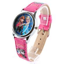 Fashion Children Watch Cute Princess Movie Elsa Anna Olaf Quartz Cartoon Kids Girl Wrist Watch Xmas