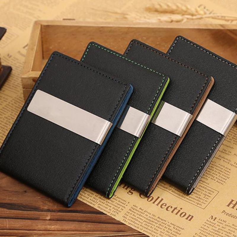 Гаджет  2016 New arrival High quality PU leather magic wallets fashion designer men money clip free shipping #QD08LR17 None Камера и Сумки