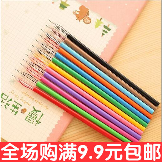 South Korea stationery color stone pen for drill core 0.38mm 12 color Bibi fresh neutral core wholesale(China (Mainland))