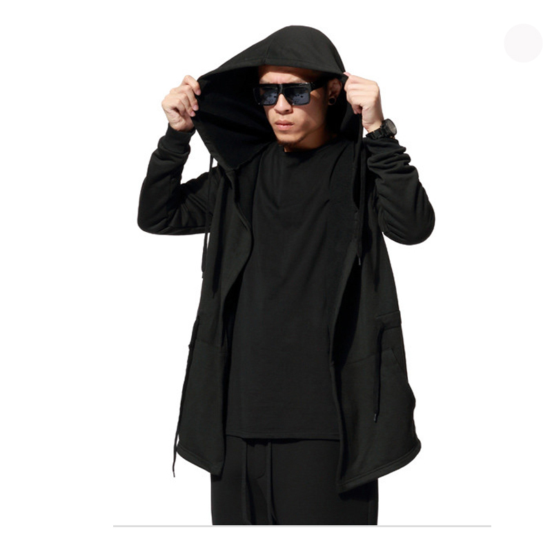 2016 New Arrival Casual Black Men's Hooded Hoodies Hip Hop Solid Long Sleeve Men Clothing and Sweatshirts Streetwear Tracksuit(China (Mainland))
