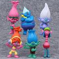 6pcs set 2016 Dreamworks Movie Trolls Poppy Branch Biggie Troll PVC Action Figures Doll Toys For