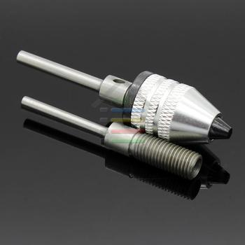Mini Keyless Drill Bits Chuck Adapter Electric Grinder 0.3-4mm With 2.3mm 3mm Shaft Connecting Rod For Dremel Rotary Tools