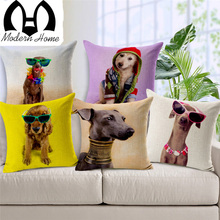 Dog Print Cushion Covers For Sofa Throw Pillow Cover