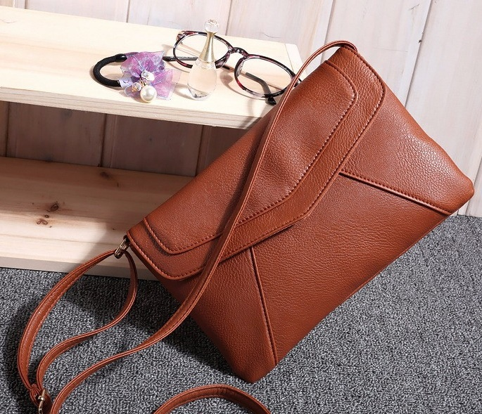 2015 Fashion Leather Small Envelope Bags Women's Messenger Bag Shoulder Crossbody Cross body Bag Vintage Clutch Bag satchels(China (Mainland))