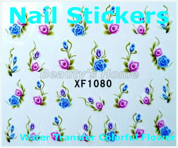 300pcs/ lot, can choose pattern,Water transfer nail designs  Nail Stickers decals Nail Art Decoration EMS Free shipping #0823