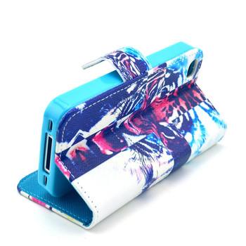 Etui portfel do iPhone  4S /4G 4 skóra PU urocze wzory