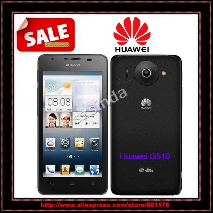 Original Huawei Ascend G510 Dual core Snapdragon MSM8225 4.5inch IPS Android 4.1 google play unlocked GPS Russian 3G Cell phone(Hong Kong)