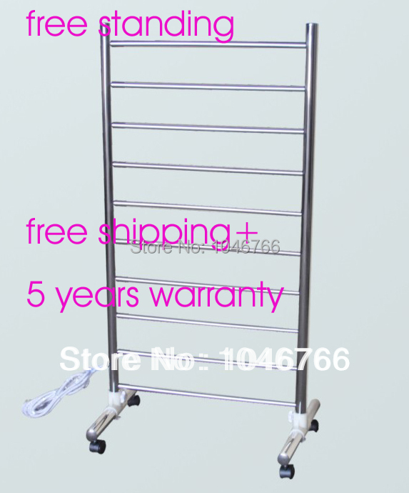 304 stainless steel feee standing towel warmer, electric towel rail, bathroom accessories +free shipping+ 5 years warranty(China (Mainland))
