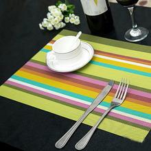 4PCS/Lot Heat Resistant PVC Kitchen Dinning stripe Table Placemats for Table Mat Manteles Doilies Cup Mats Coaster Pad 45*30cm(China (Mainland))