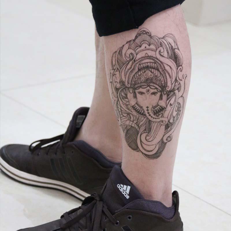 tatouage elephant thailande