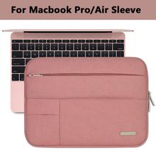 Notebook Sleeve Multi Pocket for Macbook Pro/Air 11 12 13 14 15inch Women Laptop Bag Waterproof Case For Mac 13.3 15.4 Touchbar(China (Mainland))