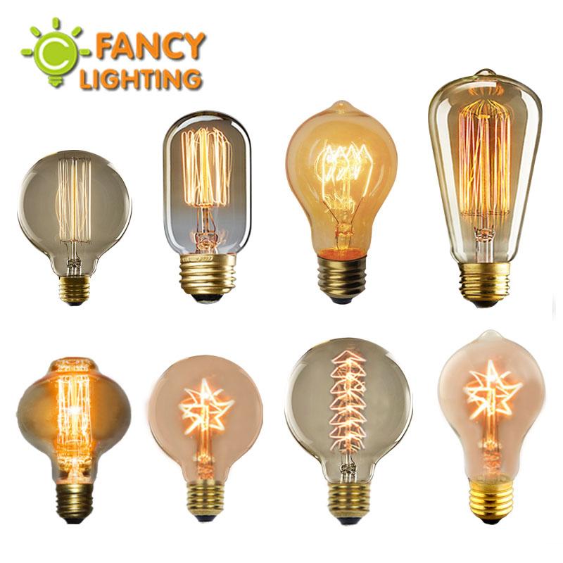Vintage Edison incandescent Light Bulb Retro Edison Filament Lamp Bulb E14 E27 110V 220V Miniature antique Bulb Edison bombilla(China (Mainland))