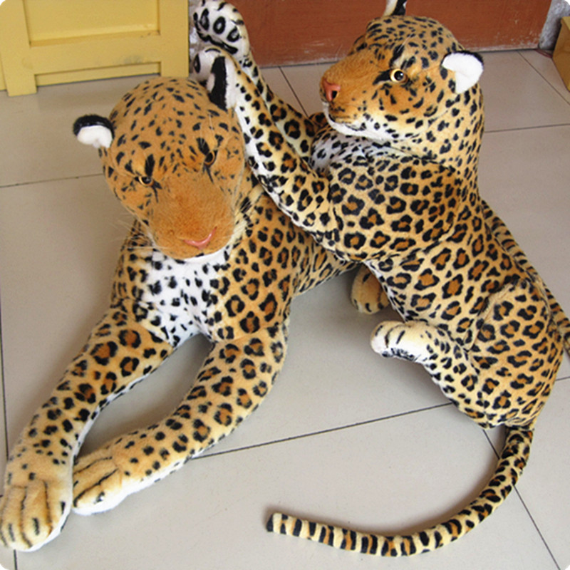 big Artificial animal leopard lion hot-selling plush toy doll simulation leopard doll about 88cm<br><br>Aliexpress