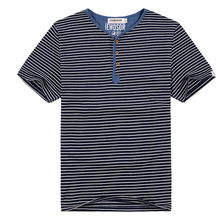 PLUS SIZE ONLY New Men Summer Style Classic Stripped T-shirt Plus Size Men Running Cotton Sport Top Quality T-shirt XL-5XL 090