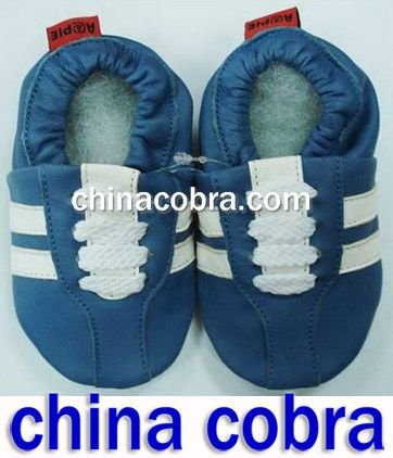 free shipping 100% genuine leather baby shoes,soft sole(China (Mainland))