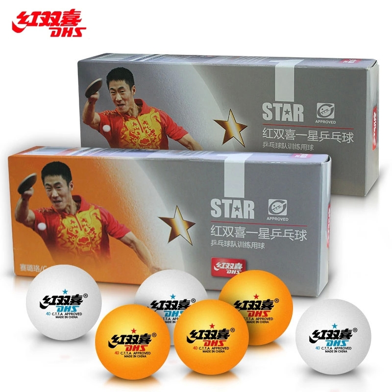 Free shipping 100% original DHS 1 stars DHS 40MM Olympic Table Tennis Orange/white PingPong Balls training and champain1840A C(China (Mainland))