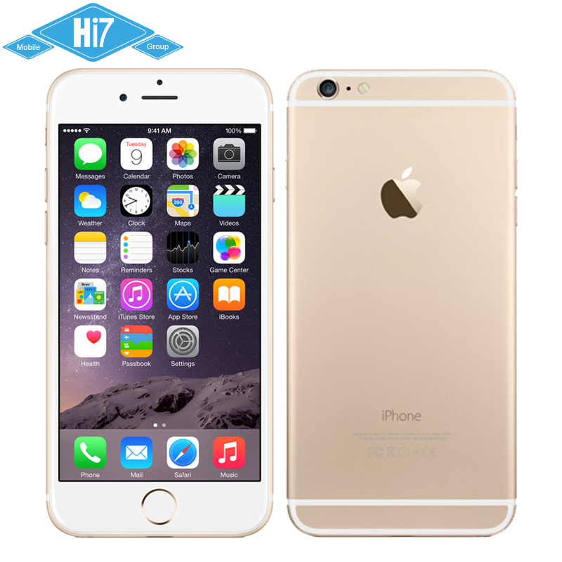 Unlocked Original Mobile Phone Apple iPhone 6 Brand New Plus 4.7 & 5.5 Screen 8MP 2G 3G 4G iOS 8 Dual Core 1.4GHz Free Shipping(China (Mainland))