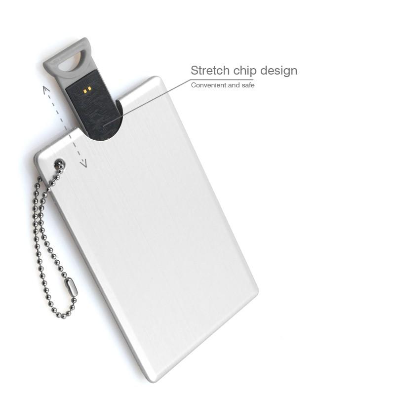 USB 2.0 Pen Drive 32GB 16GB 8GB 4GB Stretching credit card usb High speed wire dawing aluminium alloy material creative U disk(China (Mainland))