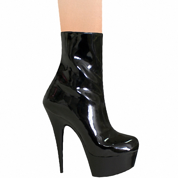 Classics Black 15cm Platforms Boots High Heel Shoes, Pole Dance / Model Shoes, 6 Inch Ankle Boots, Sexy Bootie(China (Mainland))