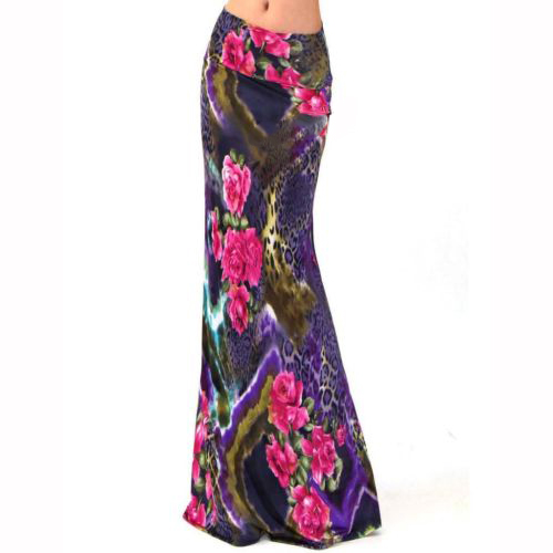 2016 New Women Summer High Waist Elegant Print Vintage Long Skirt BM-94053 - The Fashion Shop store