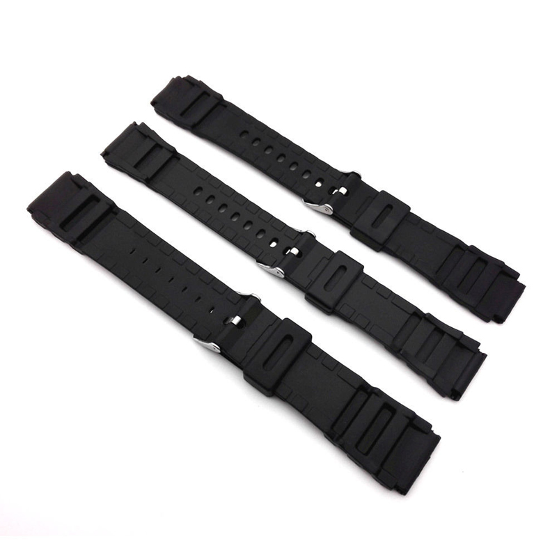 Original Watch Band 18mm,20mm,22mm Silicone Strap Steel Buckle Wrist WatchBand For Watches Sport Electronic Buckle Bracelet Band
