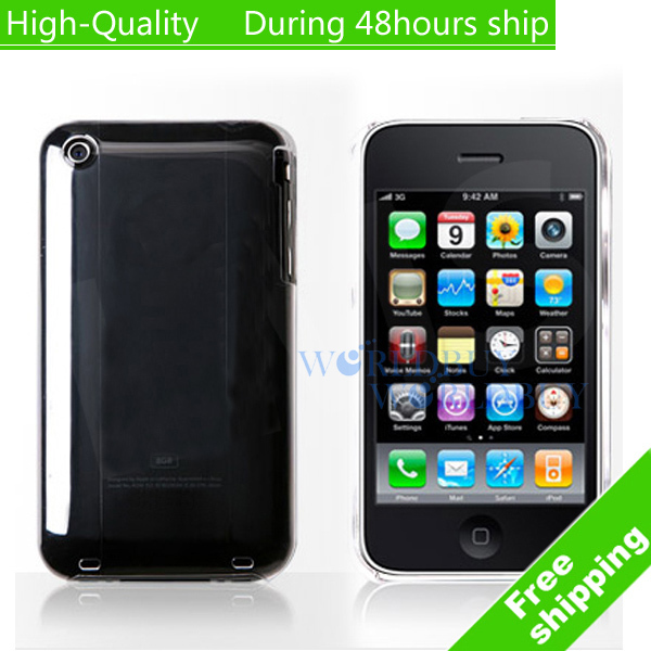 High Quality Transparency Clear Crystal Hard Case Cover For iPhone 3G 3GS Free Shipping(China (Mainland))