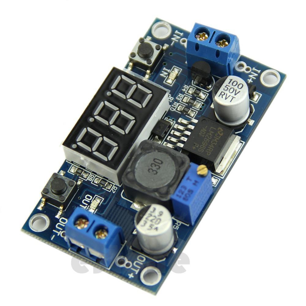 DC 4.0~40 to 1.3-37V LED Voltmeter Buck Step-down Power Converter LM2596 Module<br><br>Aliexpress
