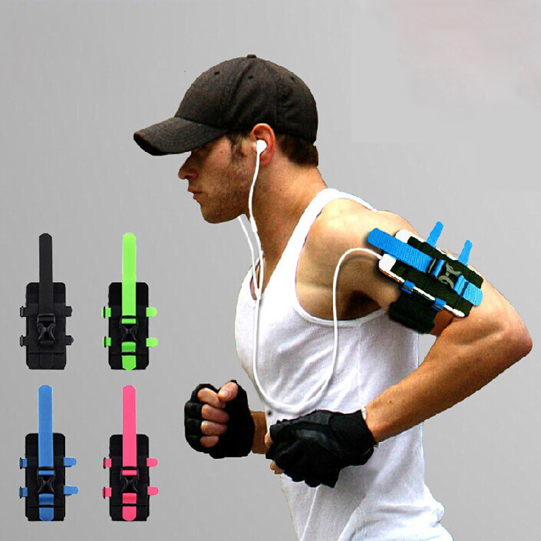 New Adjustable Sport running arm band 4 colors sports mobile phone holder running wrist bag For all mobile phone(China (Mainland))