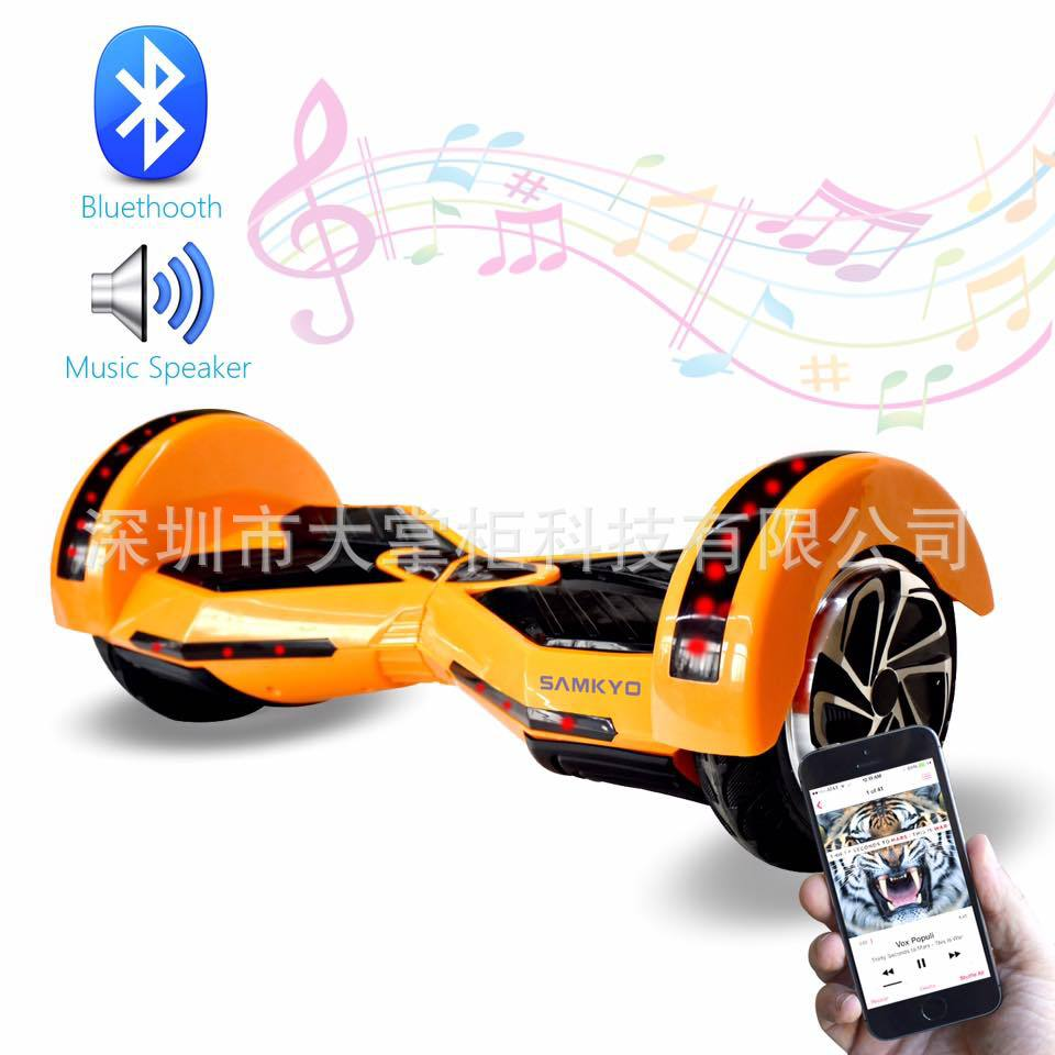 Electric vehicle with intelligent twist car drift Bluetooth stereo LEd marquee remote control 6 inch wheel balance car<br><br>Aliexpress