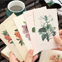 30 PCS/BOX Vintage Flower Card Postcard DIY Greeting Card Note Cards Bookmark Gifts Office and School Stationery(China (Mainland))