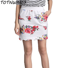 Buy TOTNWANG 2017 New Fashion Women Pencil Skirt High Waist White Pattern Bodycon Ladies Mini Skirts Floral Print Slim Pencil Skirts for $7.92 in AliExpress store